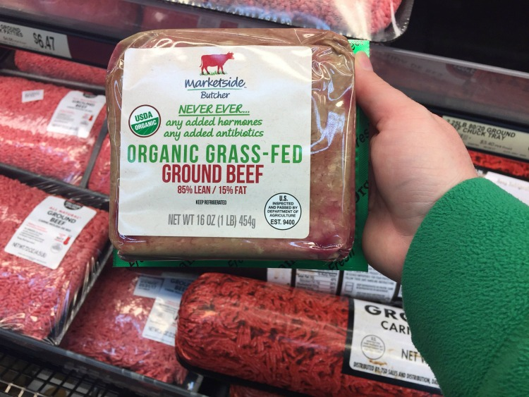 organic finds at Walmart grass fed beef