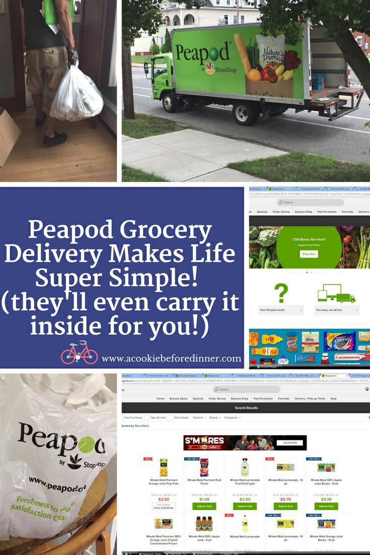 Peapod Grocery Delivery rocks! I used it get the the ingredients for watermelon mint lemonade.