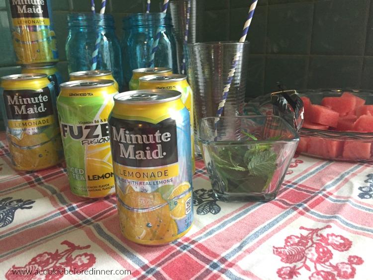 watermelon mint lemonade drink station