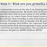 {52 Lists} What Are You Grateful For?