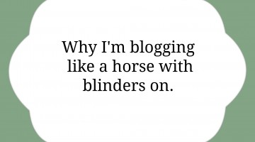 Blogging Horse Blinders