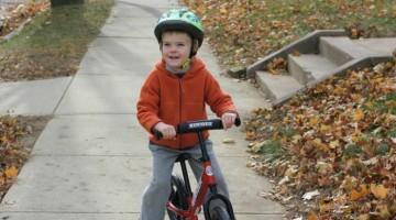 Strider balance bike builds confidence!