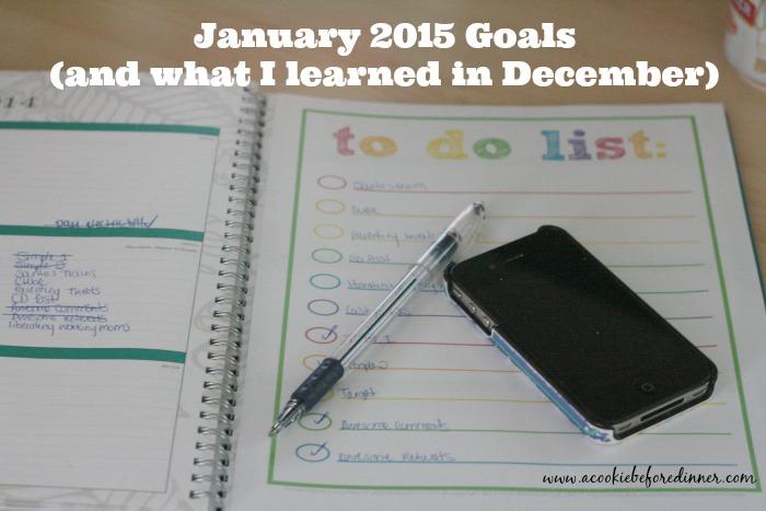 January Goals 2015