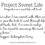 Project Sweet Life- Sarah Knepper