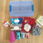 Make A Diaper Bag Supply Box for Your Car!