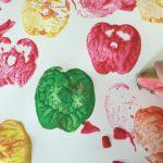 Easy Apple Stamping Preschool Art Activity