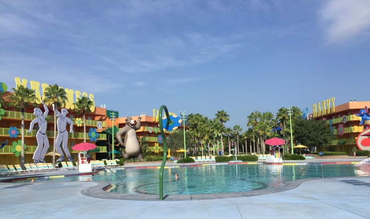 Disney's Pop Century Pool. Swim and take a break so you're trip to Disney with your toddler will be meltdown free.