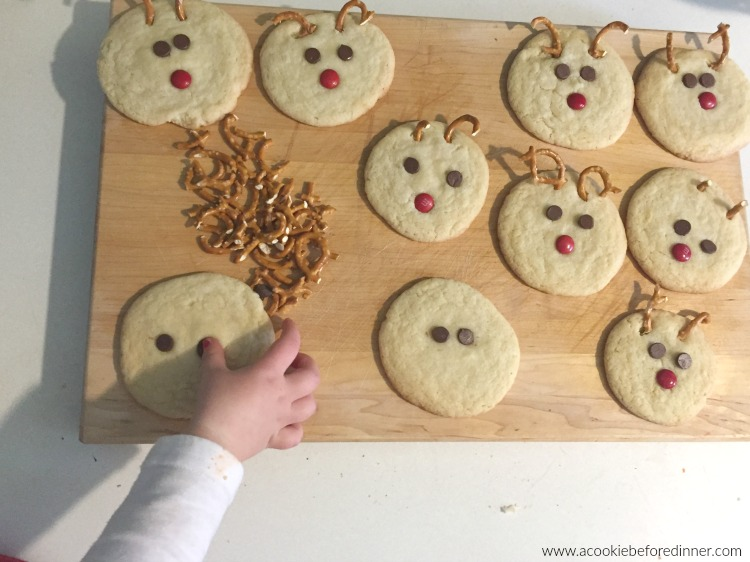 Kid Friendly Rudolph Sugar Cookie Recipe. Your kids will love helping you make this easy cookie swap recipe!