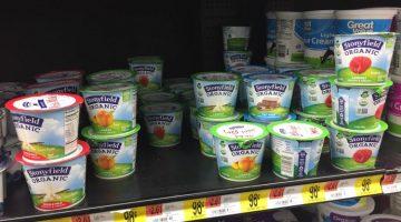organic finds at walmart yogurt