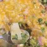 Cheesy Ham & Potato Casserole With Broccoli